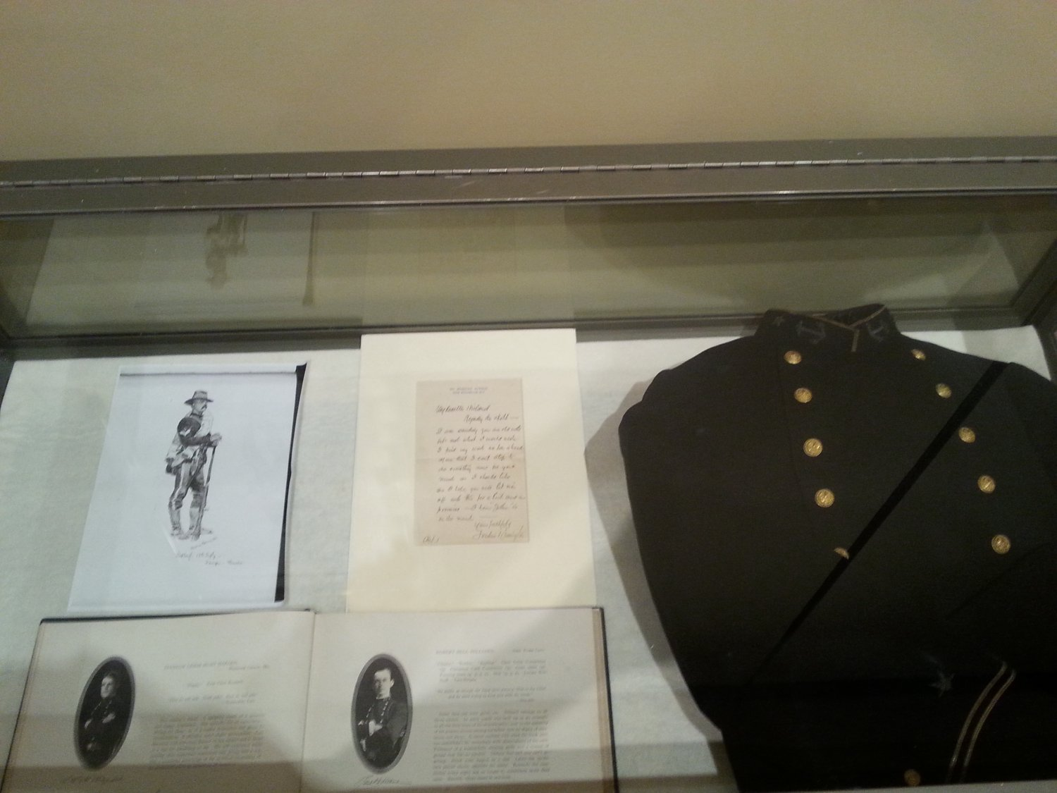 mini exhibit of Remington military art